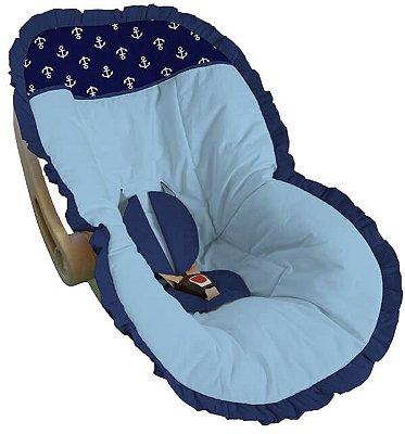 Capa para Bebê Conforto Azul Bebê Ancora Marinho