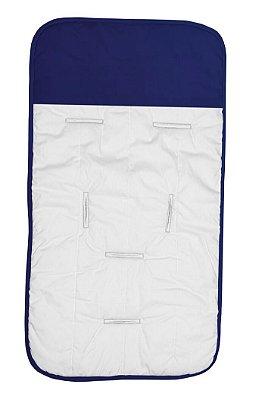 Capa de Carrinho Branca e Azul Marinho