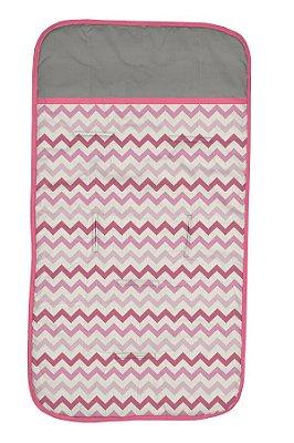 Capa de Carrinho Chevron Pink e Cinza