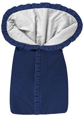 Porta Bebê Saco de Dormir Azul Marinho