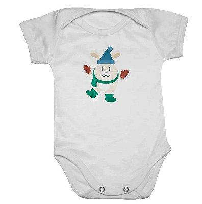 Body de Bebê Branco Manga Curta Rena