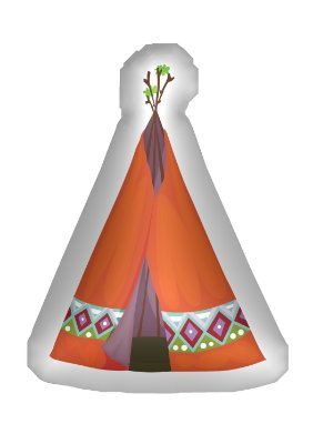 Almofada Temática Cabana Índio
