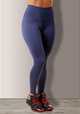 Legging Texturizada Azul Jacquard