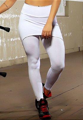 Legging Saia Branca Lisa