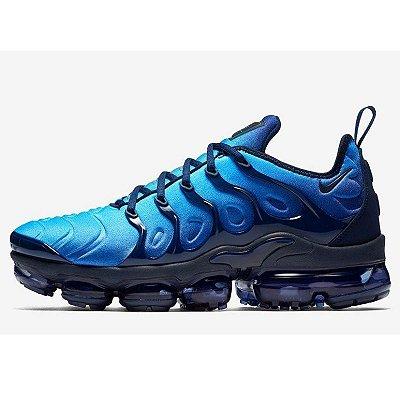 Tênis Nike Air VaporMax Plus - Azul e Preto