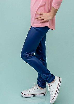 Legging Infantil Azul Brilhante Cirrê