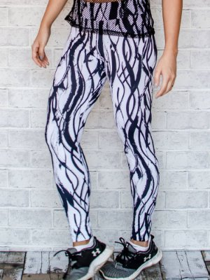 Legging Adulto Black and White