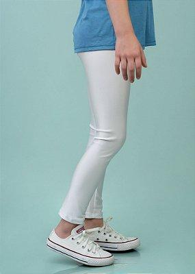 Legging Infantil Branca Brilhante Cirrê