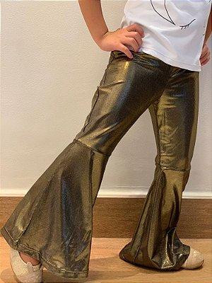 Flare Infantil Gold/Dourado Preto Brilhante