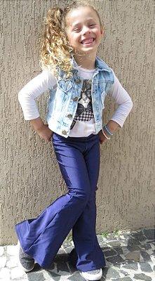 Flare Infantil Marinho/Roxa