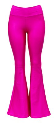 Flare Adulto Rosa Pink Cirrê Brilhante