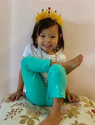 Legging Infantil Sereia Efeito Molhado Brilhante