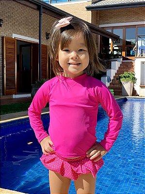 Blusa Pink com Proteção Solar Bebê e Infantil
