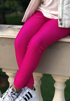 Legging Infantil Pink Poá