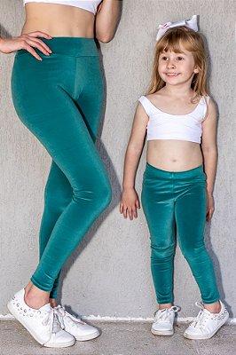 Legging Adulto Veludo Verde