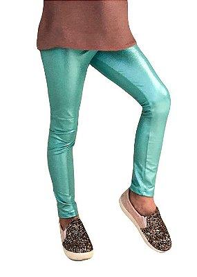 Legging Infantil Verde Platinado