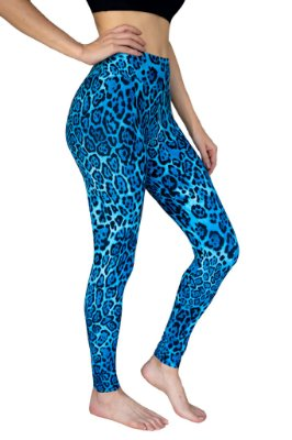Legging Adulto Estampa onça azul