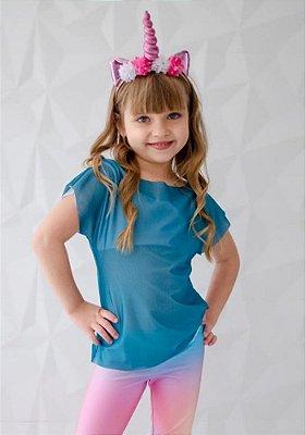 T-shirt Infantil Tule Dupla Face Esmeralda