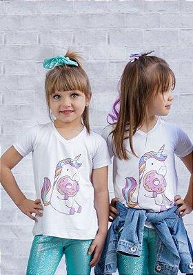 T-shirt Infantil Unicórnio Collab Amanda Lino