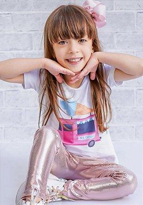 T-shirt Infantil Sorvete Collab Amanda Lino