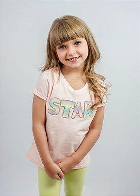 T-shirt Infantil Star Branca