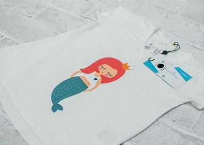 T-shirt Infantil Sereia Coral Collab Amanda Lino