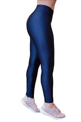 Legging Adulto Azul Marinho Brilhante Cirrê