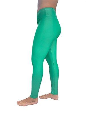 Legging Adulto Cós Alto Verde Cirrê