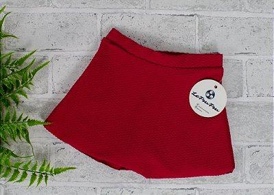 Shorts Saia Trabalhado Vermelho Baby