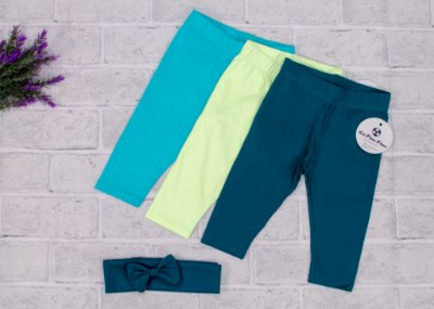 Kit Legging Baby Shades of Green