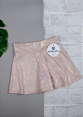 Shorts Saia Infantil Nude Com Brilho Furta Cor