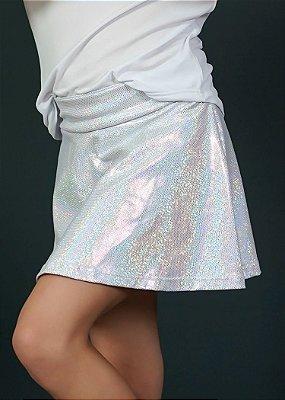 Shorts Saia Infantil Branca com Brilho
