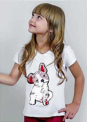 T-shirt Infantil Dog Reversível