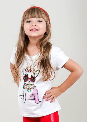 T-shirt Infantil Cute Dog