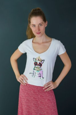 T-shirt Adulto Cute Dog