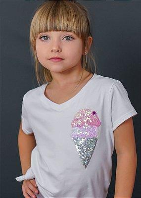 T-shirt Infantil Sorvete