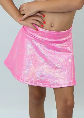 Shorts Saia Infantil Pink Com Aplicação de Brilho