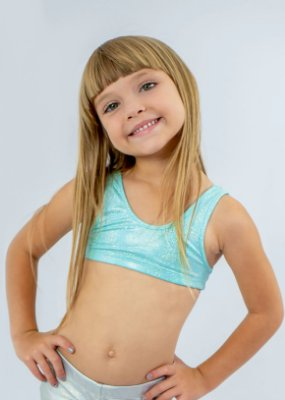 Top Infantil Brilho Sereia