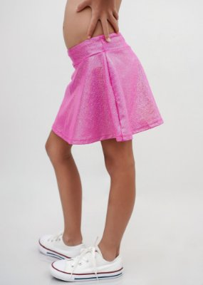 Shorts Saia Infantil Pink Brilho Furta Cor