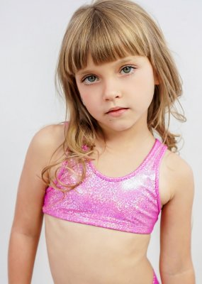 Top Infantil Pink Com Brilho Furta Cor