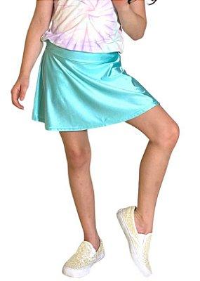 Shorts Saia Infantil Azul Bebê Cirrê
