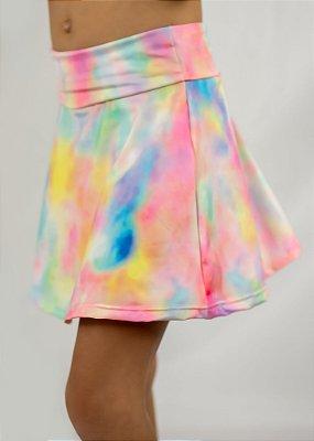 Shorts Saia Infantil Tie Dye