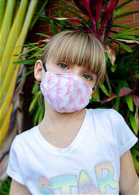 Máscara Infantil Estampa Rosa