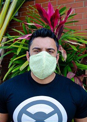 Máscara Masculina Estampada Verde