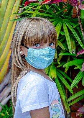 Máscara Infantil Verde Sereia
