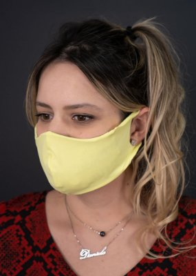 Máscara Feminina Amarela Neon