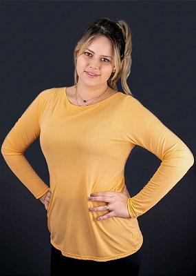 T-shirt Adulto Crepe Laranjinha Manga Longa