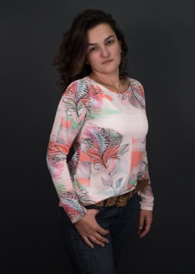 T-shirt Adulto Crepe Tropical Manga Longa
