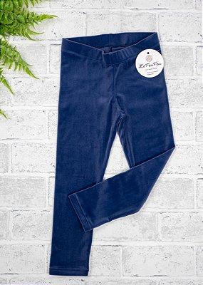 Legging Infantil Veludo Azul