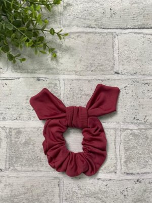 Scrunchie Marsala Fleece